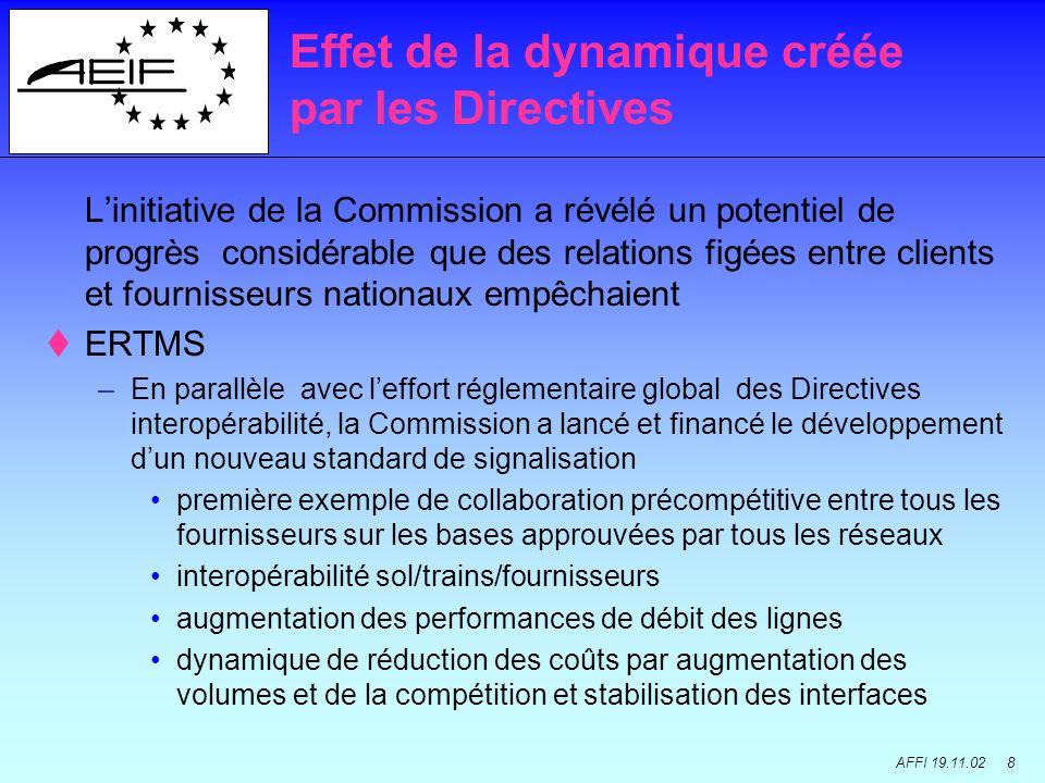 AFFI 19.11.02 8 Linitiative de la Commission a révélé un potentiel de progrès considérable que des relations figées entre clients et fournisseurs nati