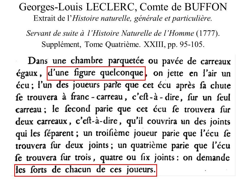 Georges-Louis LECLERC, Comte de BUFFON Extrait de lHistoire naturelle, générale et particulière. Servant de suite à lHistoire Naturelle de lHomme (177