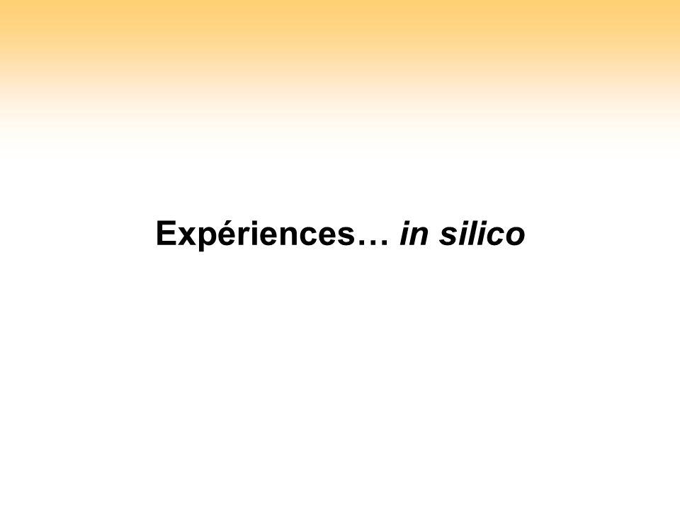 Expériences… in silico