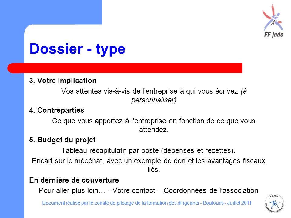 Dossier - type 3.