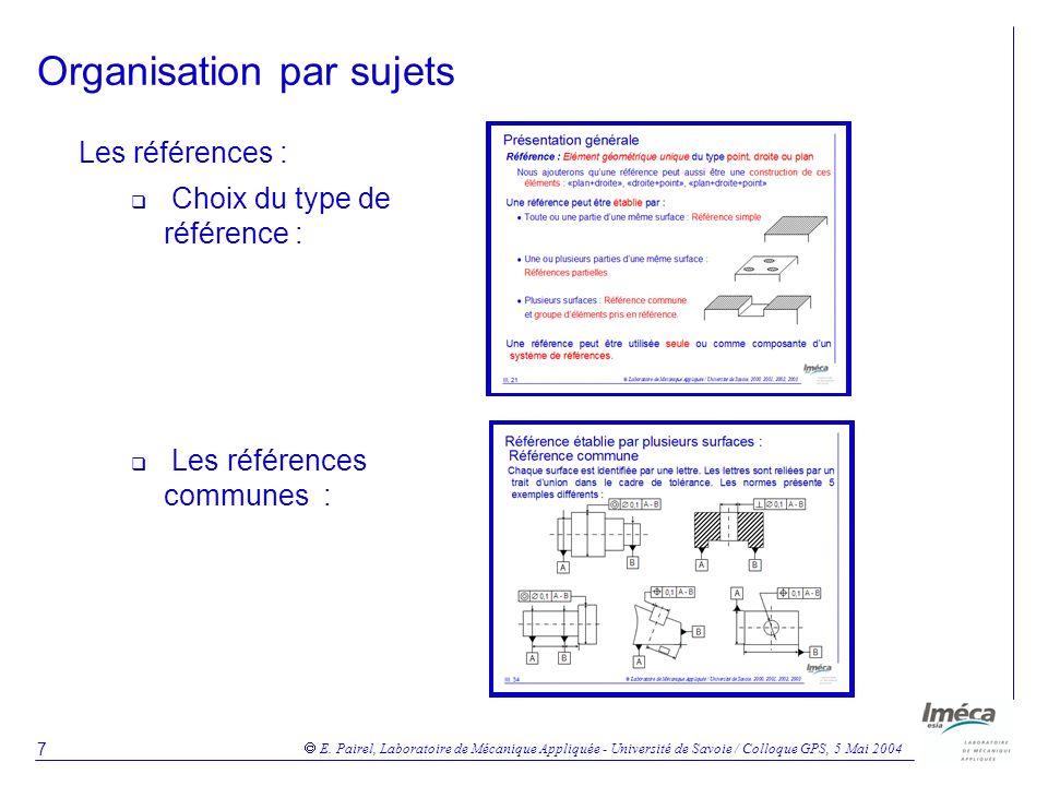 E. Pairel, Laboratoire de Mécanique Appliquée - Université de Savoie / Colloque GPS, 5 Mai 2004 18