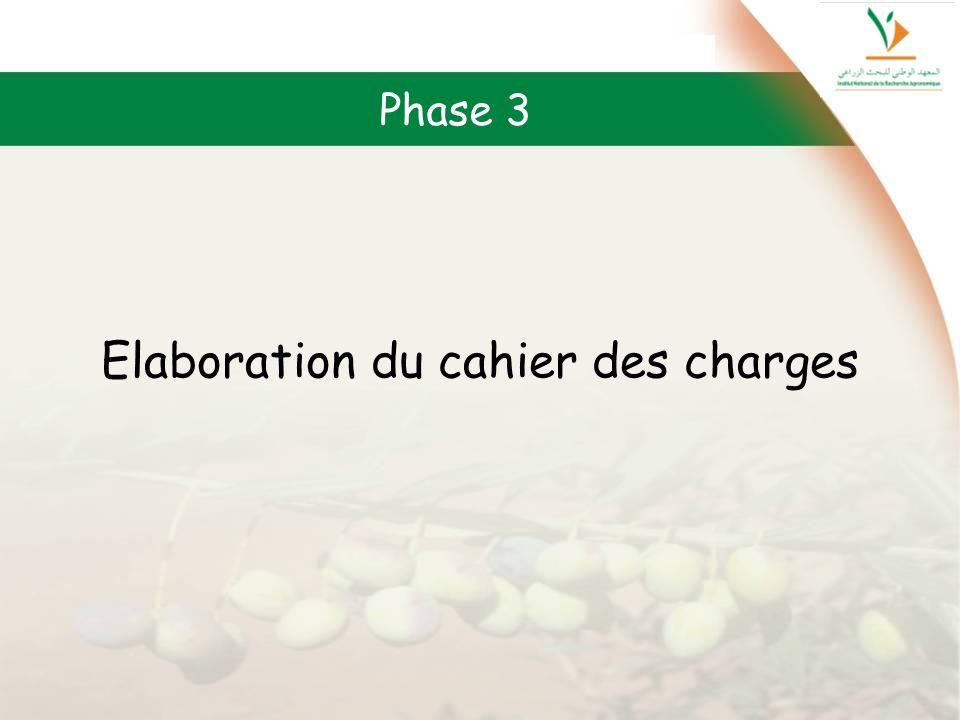 Elaboration du cahier des charges Phase 3