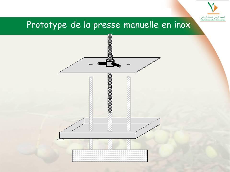 Prototype de la presse manuelle en inox