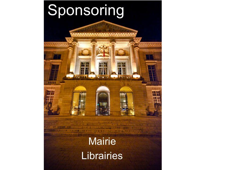 Sponsoring Mairie Librairies