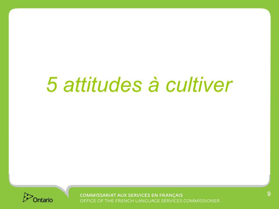 10 5 attitudes à cultiver à lappui des 5 rôles du Commissariat 1.