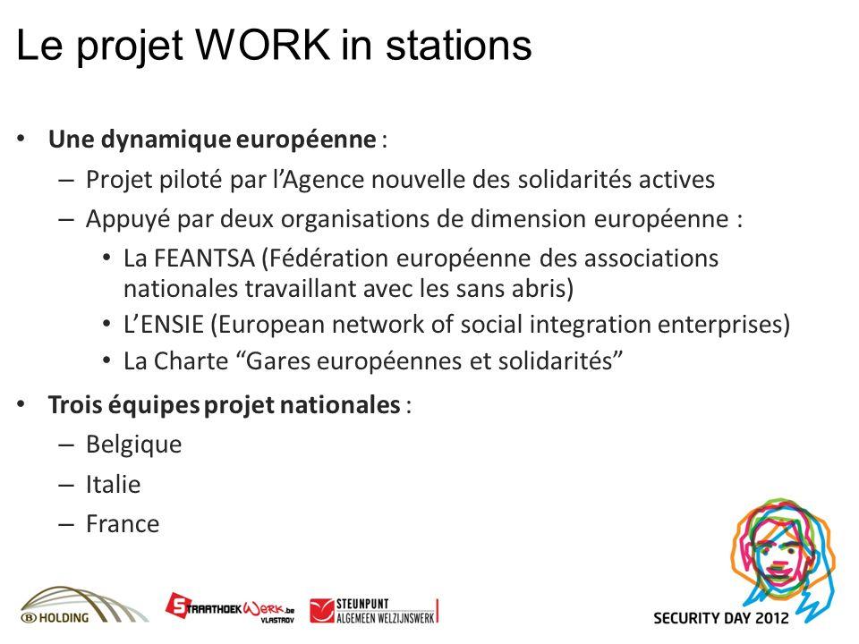 Une dynamique européenne : – Projet piloté par lAgence nouvelle des solidarités actives – Appuyé par deux organisations de dimension européenne : La F