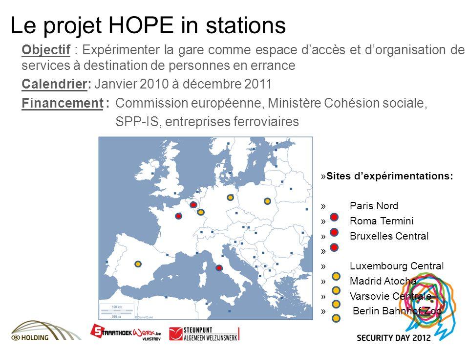 Objectif : Expérimenter la gare comme espace daccès et dorganisation de services à destination de personnes en errance Calendrier: Janvier 2010 à déce
