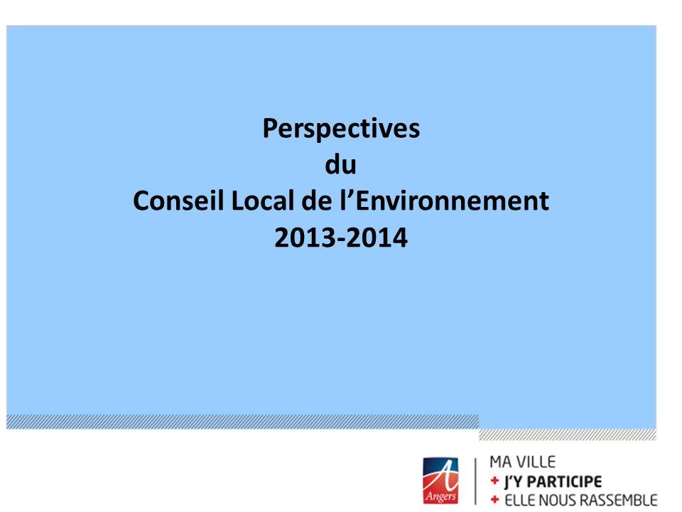 Perspectives du Conseil Local de lEnvironnement 2013-2014