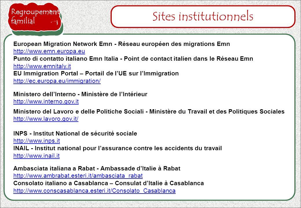 INPS - Institut National de sécurité sociale http://www.inps.it http://www.inps.it INAIL - Institut national pour lassurance contre les accidents du t
