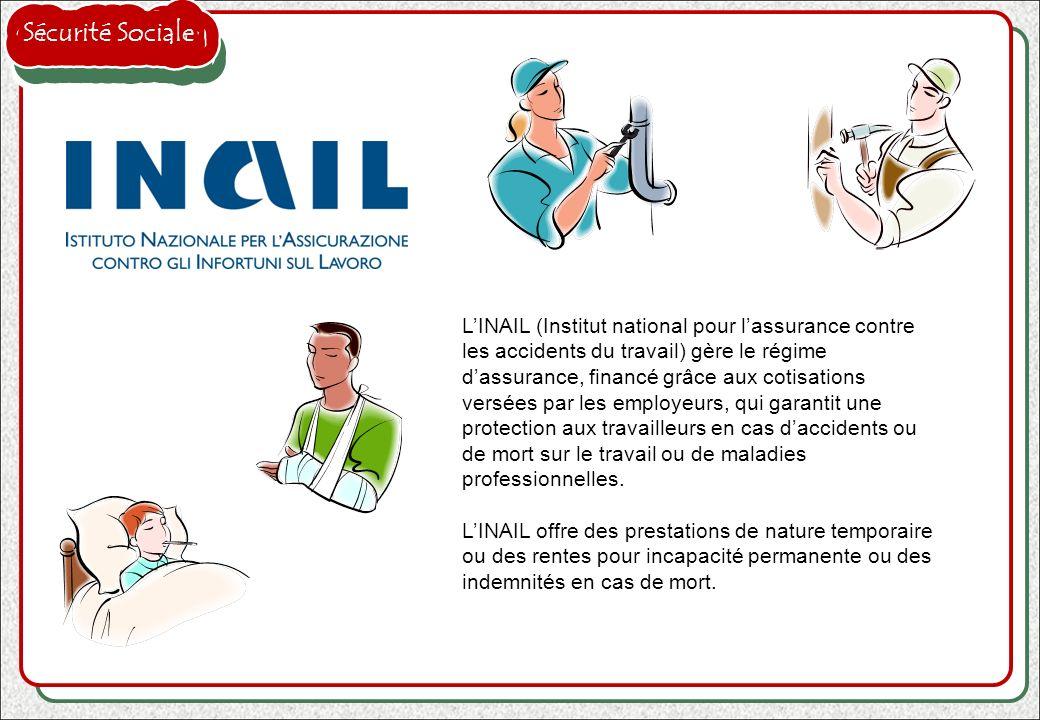 LINAIL (Institut national pour lassurance contre les accidents du travail) gère le régime dassurance, financé grâce aux cotisations versées par les em