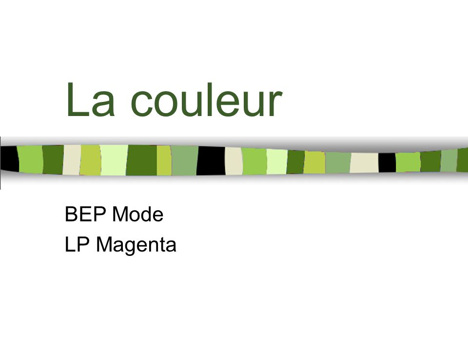 La couleur BEP Mode LP Magenta