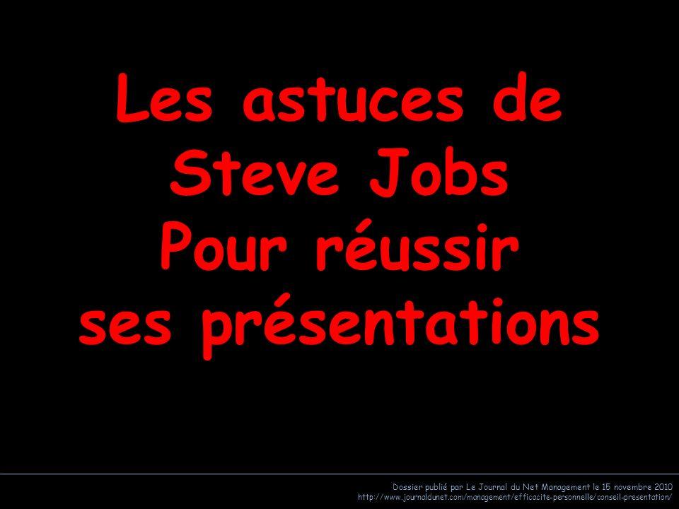 Dossier publié par Le Journal du Net Management le 15 novembre 2010 http://www.journaldunet.com/management/efficacite-personnelle/conseil-presentation Sommaire