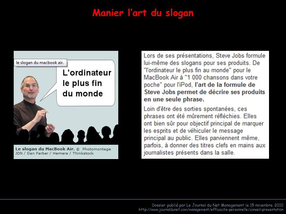 Dossier publié par Le Journal du Net Management le 15 novembre 2010 http://www.journaldunet.com/management/efficacite-personnelle/conseil-presentation Chiffres