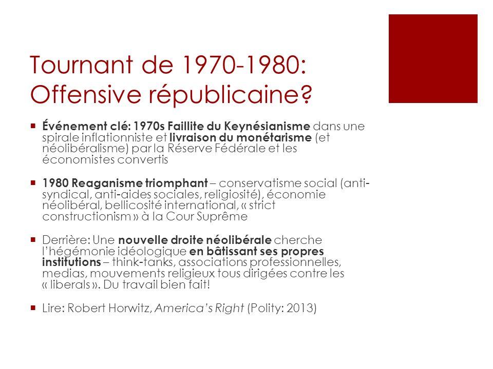 Tournant de 1970-1980: Offensive républicaine.