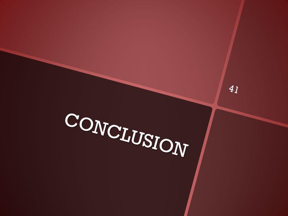 CONCLUSION 41