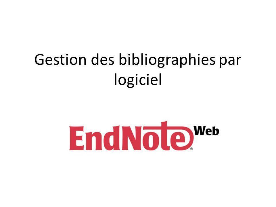 Gestion des bibliographies par logiciel