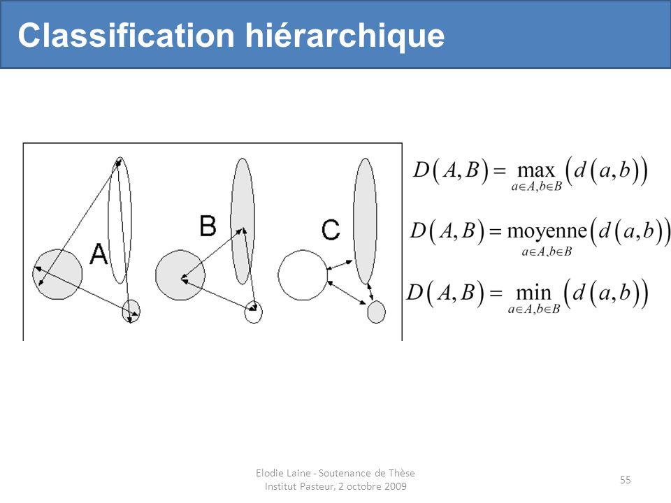 Elodie Laine - Soutenance de Thèse Institut Pasteur, 2 octobre 2009 55 Classification hiérarchique