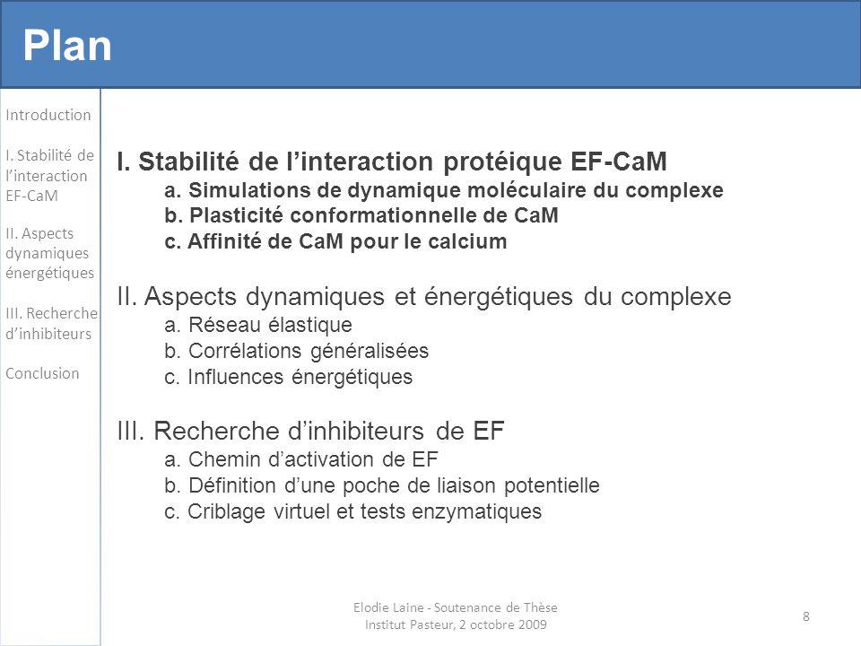 19 Changements conformationnels de CaM Introduction I.