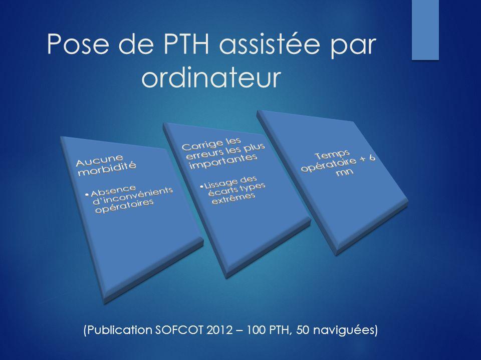 Pose de PTH assistée par ordinateur (Publication SOFCOT 2012 – 100 PTH, 50 naviguées)