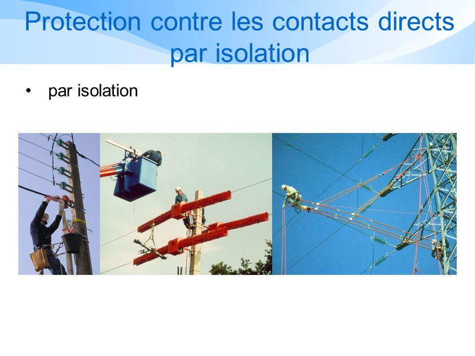 Protection contre les contacts directs par isolation par isolation