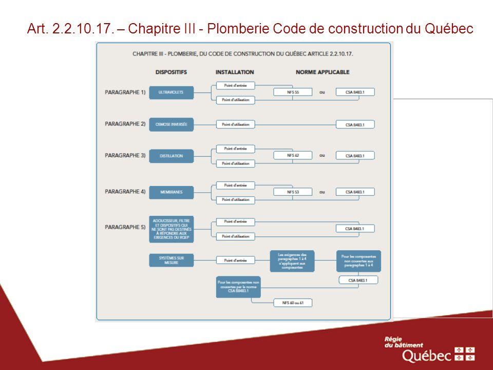 Rencontre AESEQ, MDDEP & RBQ Objectif de la rencontre : Échanges sur les lacunes actuelles de larticle 2.2.10.17.