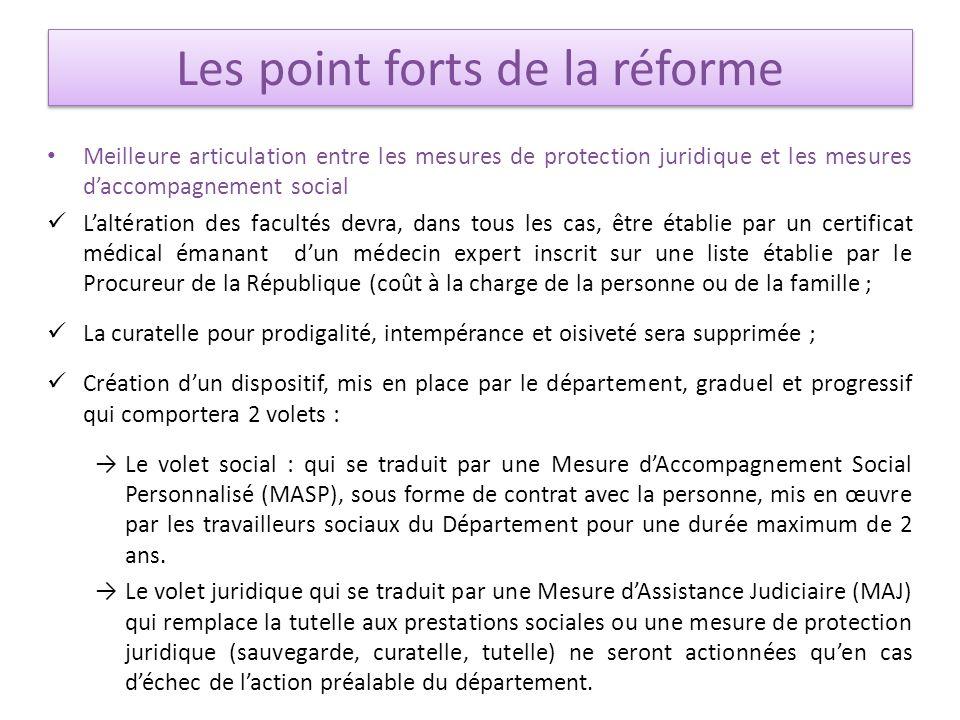 Meilleure articulation entre les mesures de protection juridique et les mesures daccompagnement social Laltération des facultés devra, dans tous les c