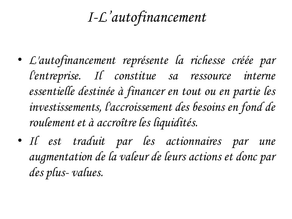 II- Les caractéristiques de financement par les SICAR 1- Un financement en vrais fonds propres : 2- Un financement sans garantie : 3- Un financement original : 4- Le remboursement des capitaux : 5- Le partage du risque :