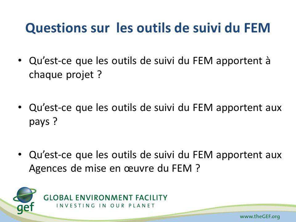 Questions sur les outils de suivi du FEM Quest-ce que les outils de suivi du FEM apportent à chaque projet .