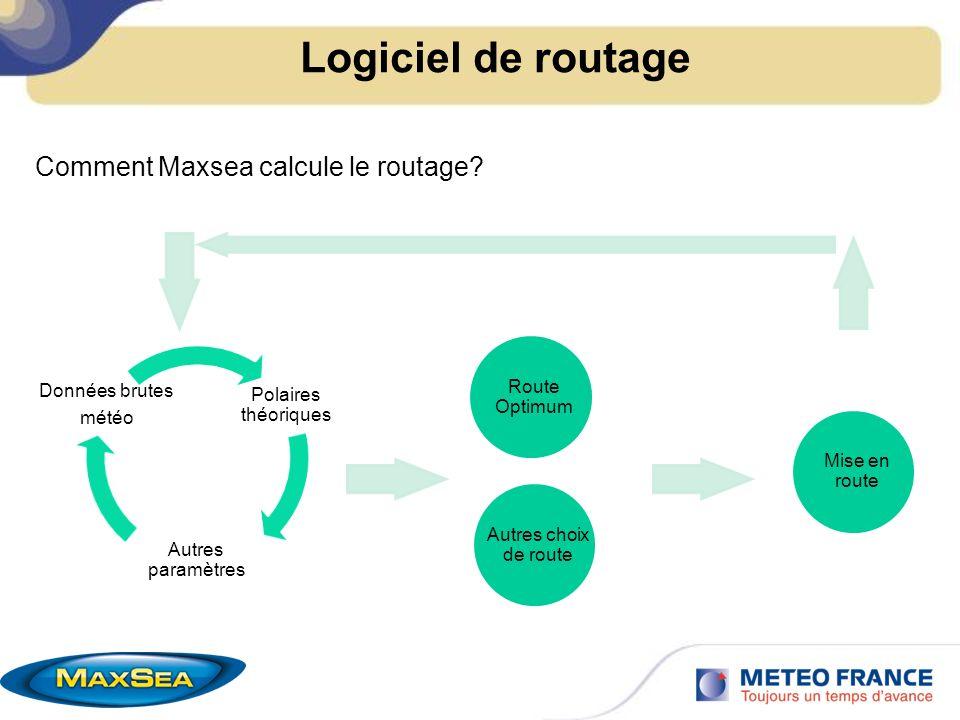 Logiciel de routage Route Optimum Autres choix de route Mise en route Comment Maxsea calcule le routage?