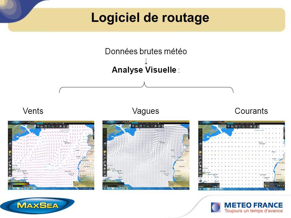 Logiciel de routage Polaires : graphiques et/ou tableau Vent Voile (SailSet) Vague (en %)