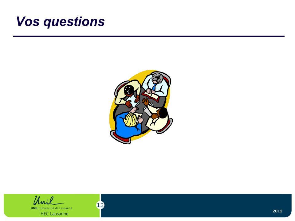 2012 12 Vos questions