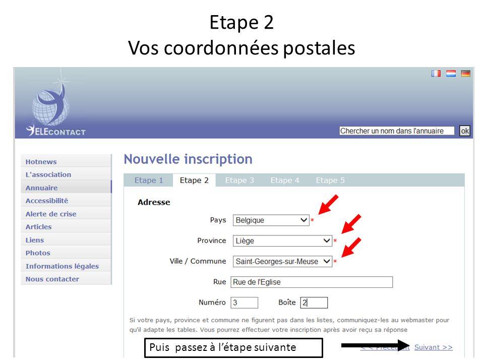 Etape 3 Les différentes façons de vous contacter cliquer sur + pour ajouter d autres moyens de communication
