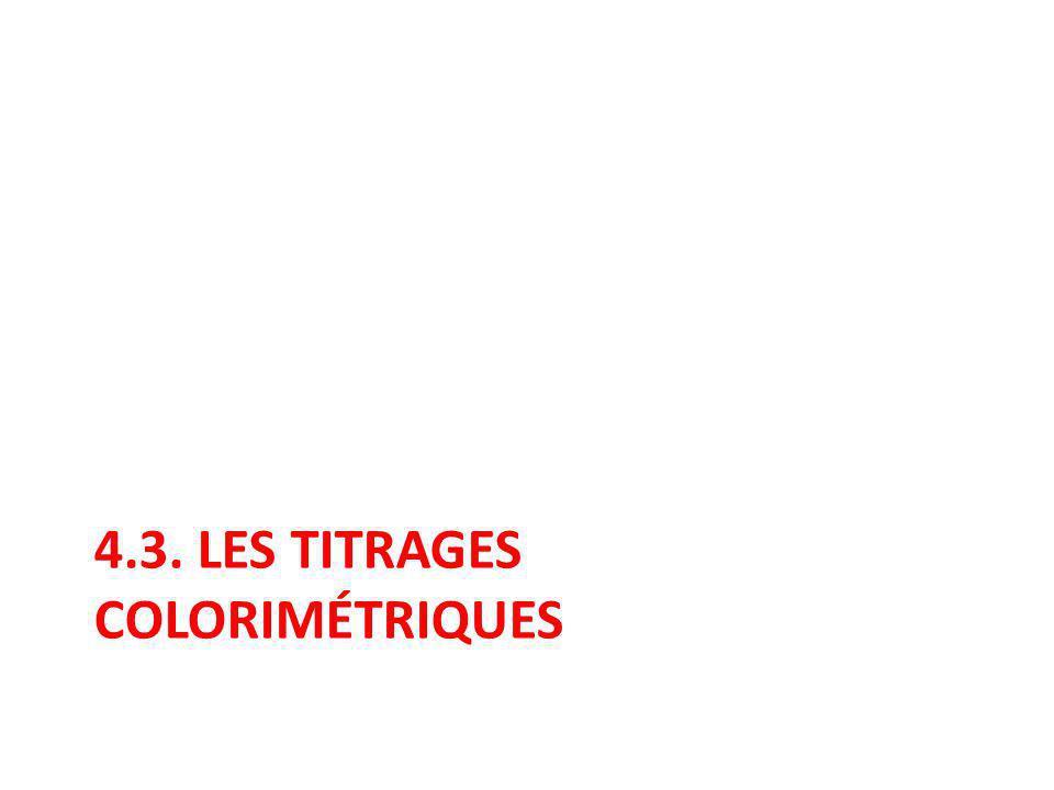 4.3. LES TITRAGES COLORIMÉTRIQUES