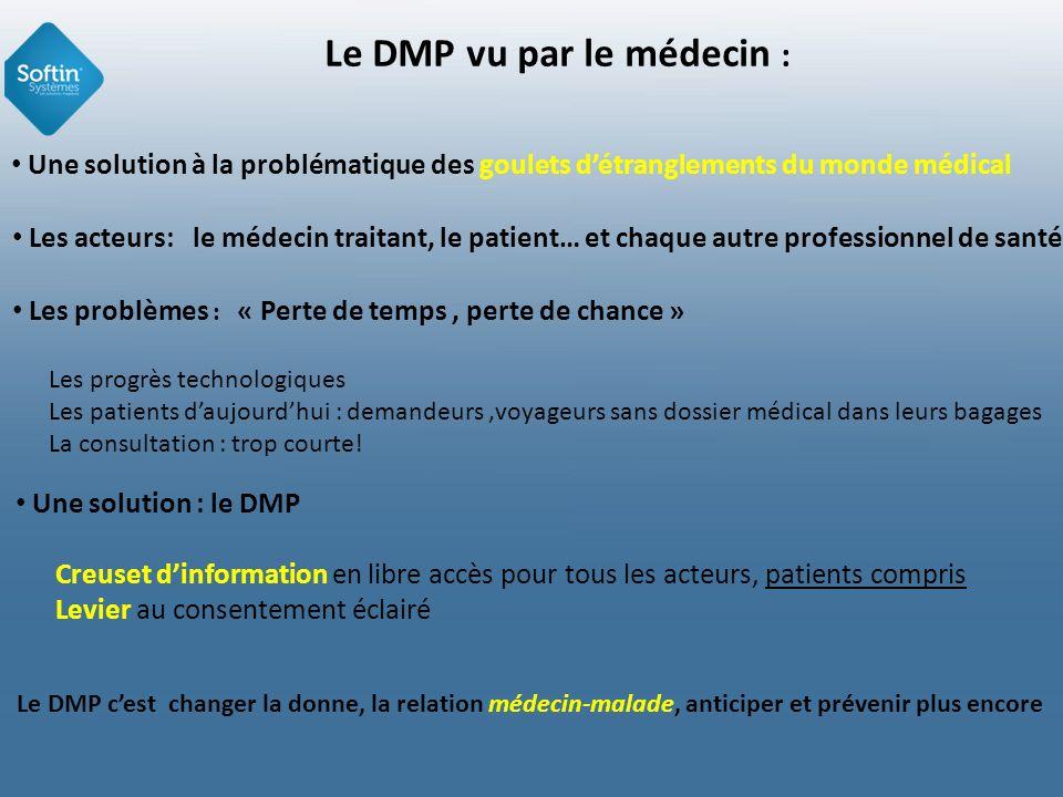 Introduction … et cest en cela que je ne vais pas vous parler du bénéfice du DMP, mais de la révolution du DMP Il sagit dun vrai défi : Projet gagnant