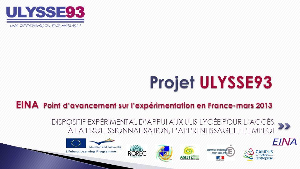 29 orientations des lycées professionnels de Seine-Saint- Denis 10 Orientations de lEducation spécialisée 12 lycées professionnels mobilisés (sur 13) 2 IME/Impro parties prenantes Une moyenne de 2,5 orientations par prescripteur Un besoin constaté