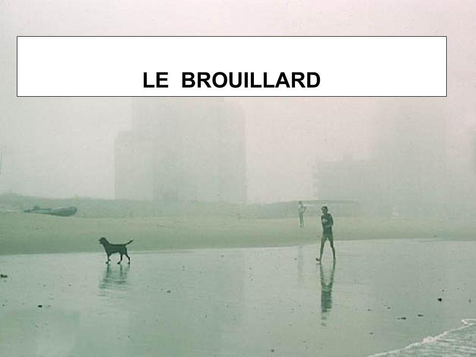 Brouillards de surface Se produisent dans de lair froid qui repose sur une surface humide comme un lac, une rivière, un étang.