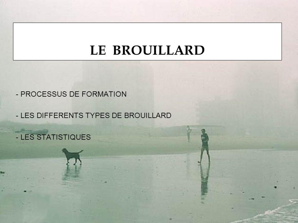 - PROCESSUS DE FORMATION - LES DIFFERENTS TYPES DE BROUILLARD - LES STATISTIQUES LE BROUILLARD