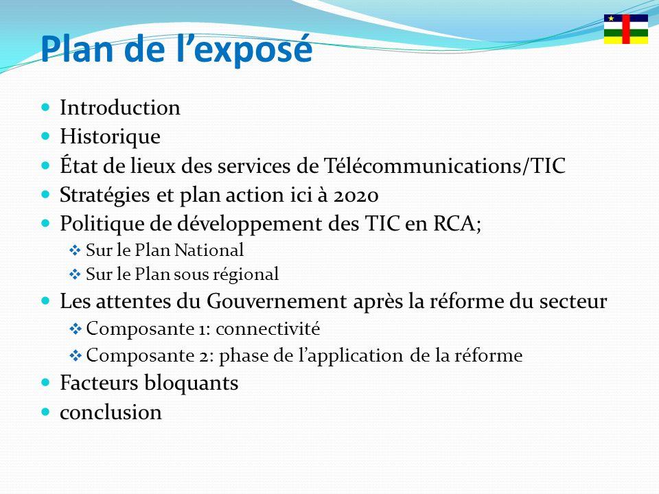 Le secteur des Télécoms/TIC de la RCA présente dénormes potentialités et atouts importants.