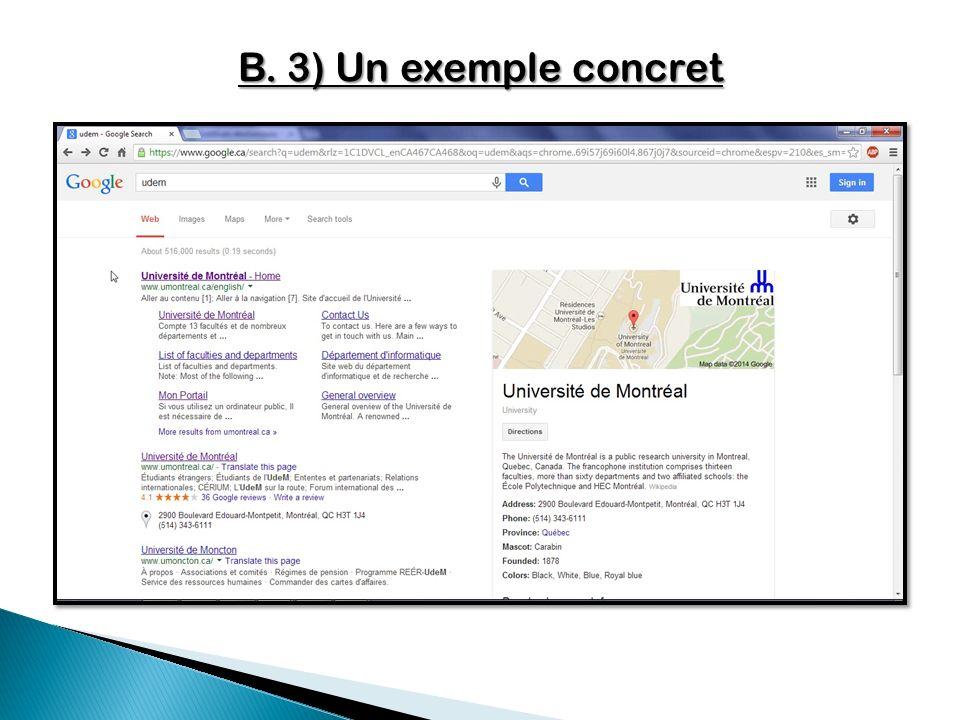 B. 3) Un exemple concret