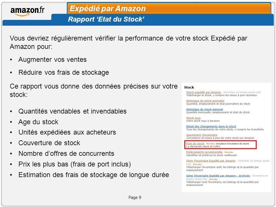 Page 10 Identifier le stock le plus âgé: Filtrez ces colonnes pour Voir le stock mort Il nest pas recommandé de ré-approvisionner du stock mort.