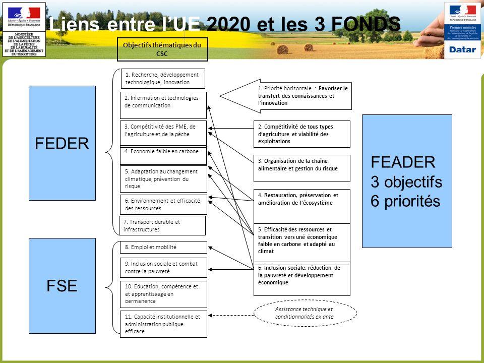 2. Compétitivité de tous types dagriculture et viabilité des exploitations 3. Organisation de la chaîne alimentaire et gestion du risque 5. Efficacité