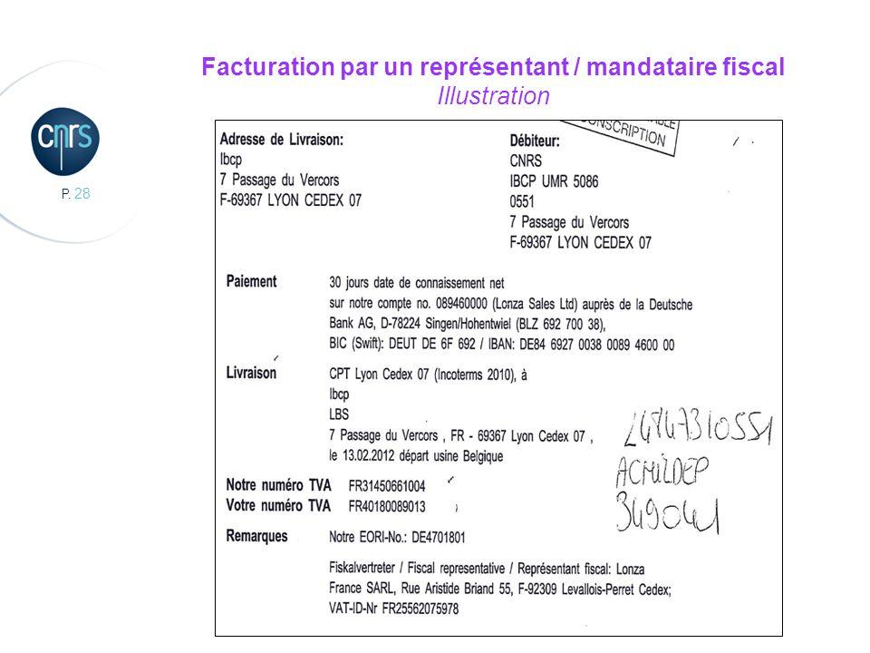 P. 28 Facturation par un représentant / mandataire fiscal Illustration