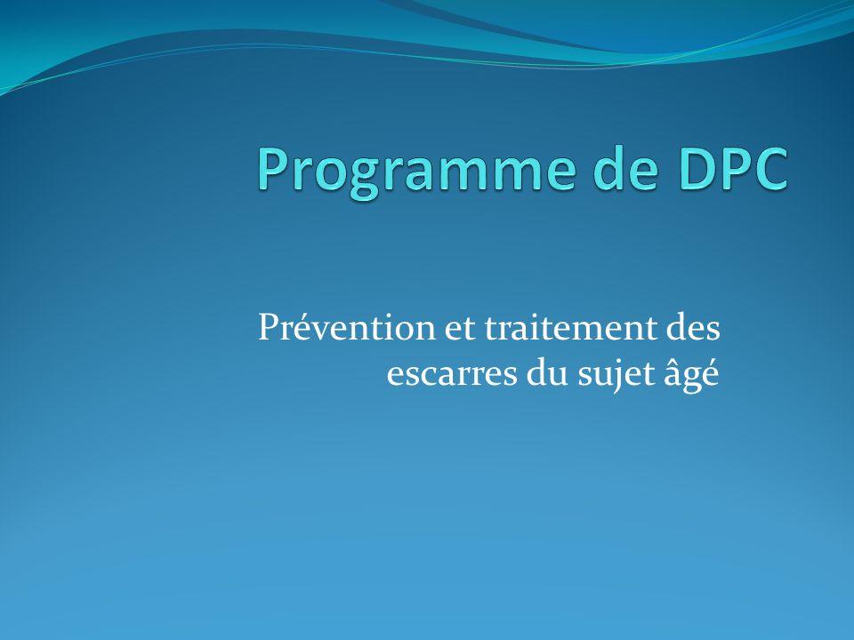 Prévention et traitement des escarres du sujet âgé
