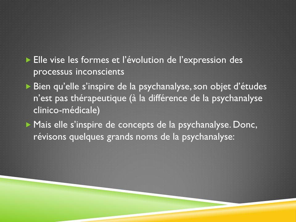Sigmund Freud, le père fondateur (1856-1939) : dabord, il est médecin psychiatre à Vienne, ensuite il se consacre à des études sur lhystérie (seule la femme peut être « hystérique » vu létymologie du signifiant : hystérectomie – se rapportant entre autres aux ovaires de la femme).
