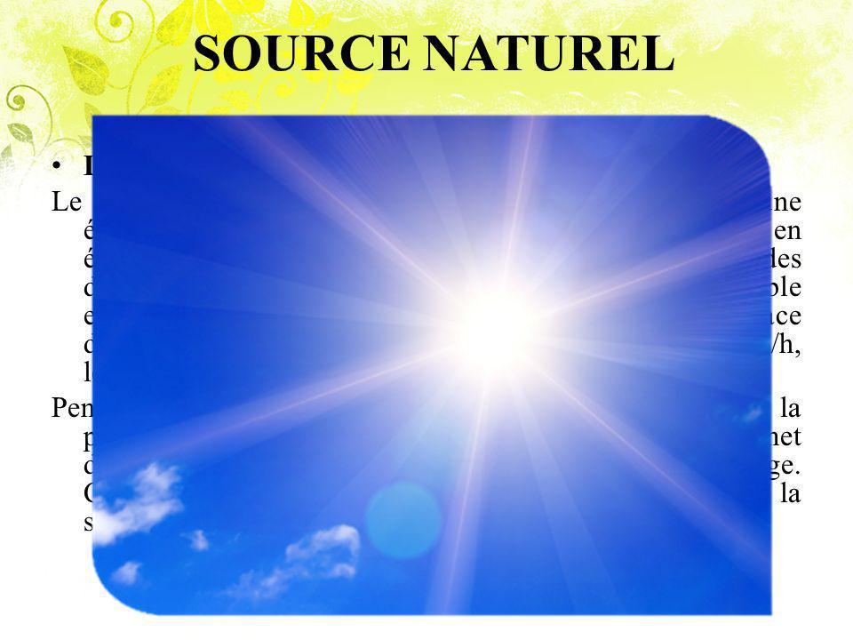 SOURCE NATUREL La Lumière Du Soleil Le soleil est une source importante d infrarouge, produit une énorme quantité d énergie par la fission nucléaire en émettant cette énergie grâce à des longueurs d ondes diverses incluant les rayons ultra-violets, la lumière visible et le rayonnement infrarouge.