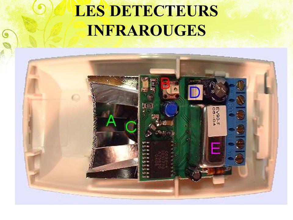 LES DETECTEURS INFRAROUGES Un détecteur infrarouge passif peut analyser le rayonnement thermique émis par tout mammifère.