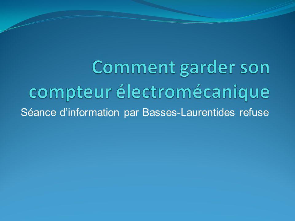 Séance dinformation par Basses-Laurentides refuse