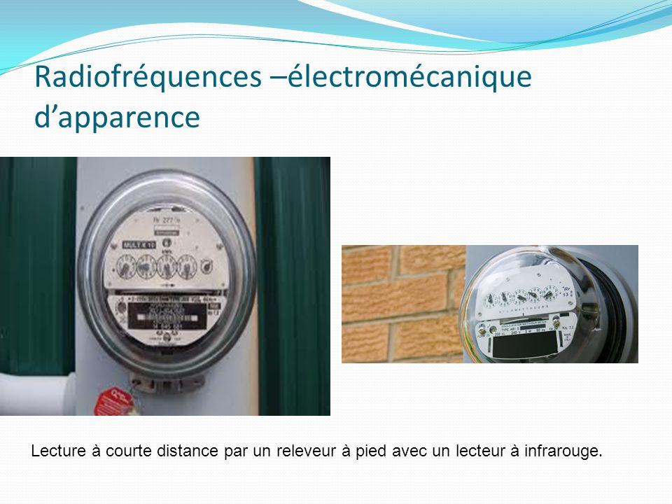 Radiofréquences –électromécanique dapparence Lecture à courte distance par un releveur à pied avec un lecteur à infrarouge.