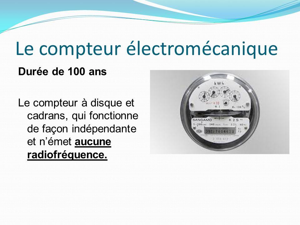 Le compteur électromécanique Durée de 100 ans Le compteur à disque et cadrans, qui fonctionne de façon indépendante et német aucune radiofréquence.