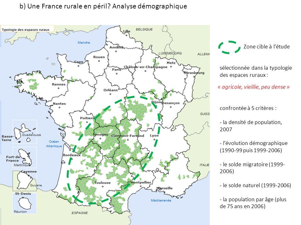 b) Une France rurale en péril.